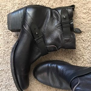 RAG & BONE black leather booties ankle boots